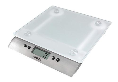 Balances de cuisine numériques en verre dépoli de Salter - Balance de cuisson électronique Peser Alimentaire Précision précise Capacité jusqu'à 15 kg Aquatronic pour liquides, garantie de 15 ans