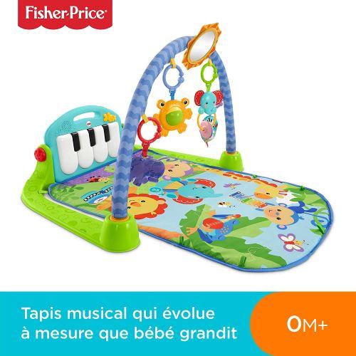 Fisher-Price Tapis Musical d'Éveil et d'Activité Piano pour Bébé, Aire de Jeu, avec 4 Modes, dès la Naissance, bleu, BMH49