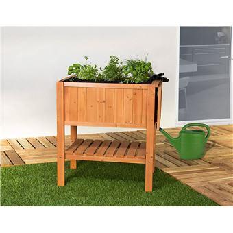 Jardiniere Pour Balcon Hors Sol Surelevee Cube 1 Bois De Sapin