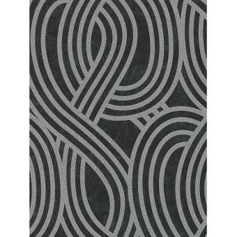 Glitter Geometrique Papier Peint Noir Et Argent Decors Et Stickers