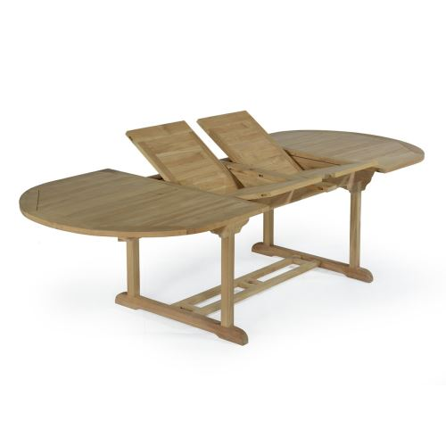 Table extensible ovale teck Ecograde Florence 200/300 x 110 cm