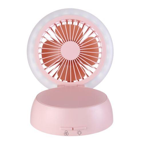 Usb Rechargeable Ventilateur Lampe de Table Champignon à Pile Forme CFYP077