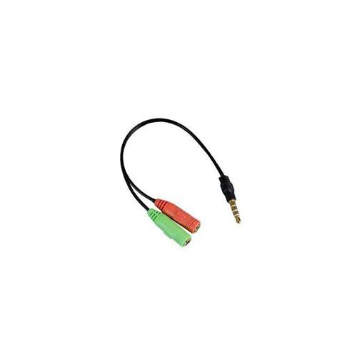 apm 422022 adaptateur jack 3.5 mm mâle / micro et casque femelle