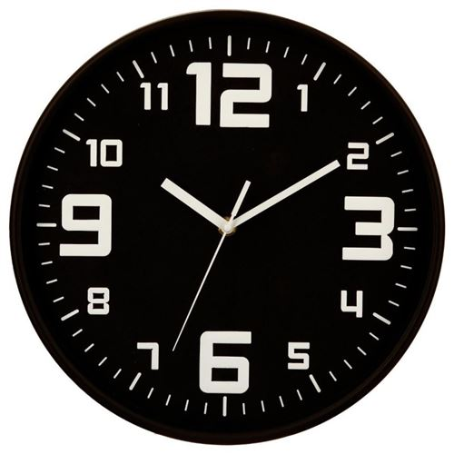 Horloge ronde noir Silence Atmosphera