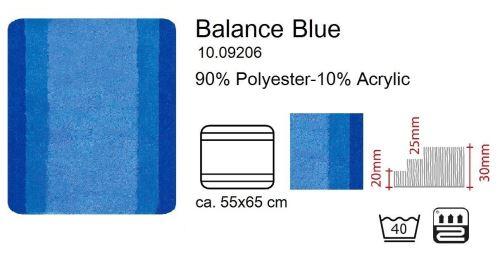 Spirella 1009206 Tapis de bain Balance 55 x 65 cm (Bleu)