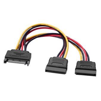 4 SATA 15 broches m/âle vers 2 x 15 Broches Femelle Extension dAlimentation Y Splitter C/âble adaptateur VSHOP/® C/âble dalimentation SATA 15 broches