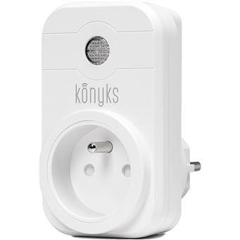 matériaux de qualité supérieure nouvelle qualité plus récent KONYKS Priska - Prise électrique connectée Wi-Fi compatible Google Home et  Amazon Alexa - Appli iOS et Android en français