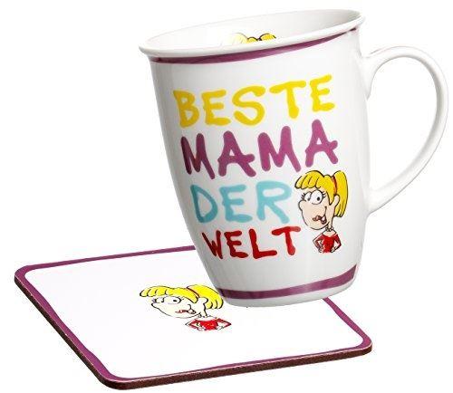 Ritzenhoff & breker 035964 lot de 2 tasses à café avec inscription en allemand beste mama der welt (meilleure grand-mère du mond
