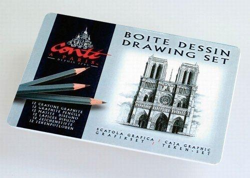 Conté à paris 010463 boîte de 12 crayons graphites assortis