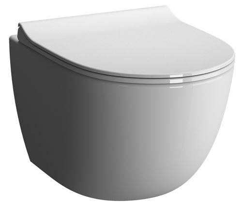 Cuvette de WC suspendue SENTO sans bride - Couleur : BLANC