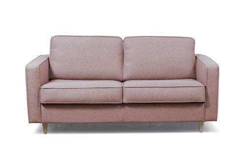 Canapé type Rapido 3 places BULLE en Tissu - Matelas 140x200x13 cm - Couleur - Rose