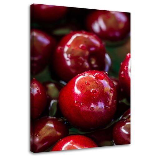 Tableau Impression moderne sur toile Image Cadre déco Canevas Fruits Cerises Photo 60x90