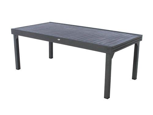 Table rectangulaire extensible Piazza 12 personnes graphite Hespéride
