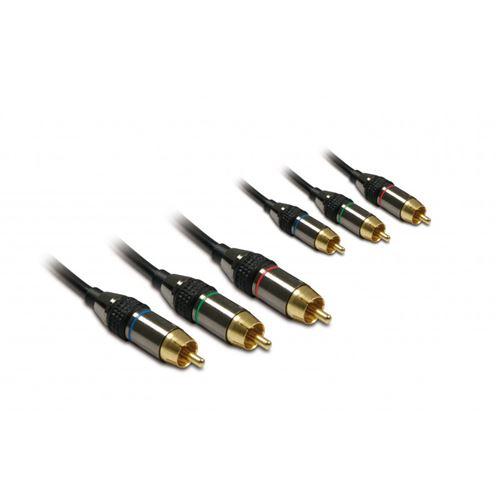 METRONIC 419205 Pack de 3 Câbles RCA M/M 1,5 m Noir