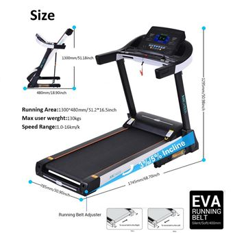 ancheer tapis de course pliable 30hp dc uk prise machines de cardio training achat prix fnac - Tapis De Course Pliable