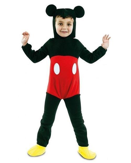 Deguisement mickey 3-4 ans enfant (combinaison, coiffe) - costume souris rouge & noire