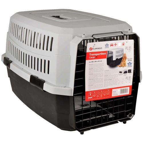 Cage de transport, taille M 48 X 68 X h 42 cm .CARGO, couleur noir - Flamingo Pet Products - FL-517575