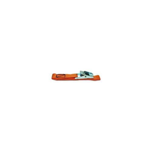 lot de 2 sangles avec boucle métallique - résistance 17 kg - 18 mm x 50 cm - orange