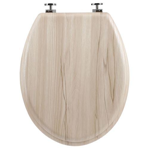 Atmosphera - Abattant WC en bois Natura - Bois clair - Natura - Marron