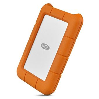 Disque dur portable LaCie Rugged 2 To USB-C Orange