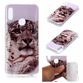 Coque en TPU animal léopard pour votre Huawei Y6 (2019 with Fingerprint Sensor)/Y6 Prime (2019)