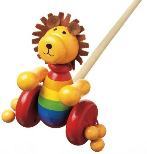 Orange Tree Toys Jouets En Bois A Pousser - Lion