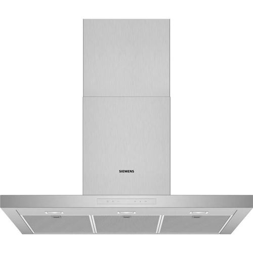 Siemens Lc97bcp50 Hotte Decorative Murale Box 90 Cm - Debit D'air 438 M3/h - Inox