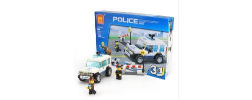 Building Block jouets Wange Police Roadblock Couleur 51011