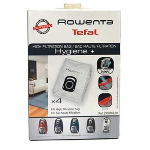 Boite de 4 sacs hygiene + silence force pour aspirateur rowenta - g656132