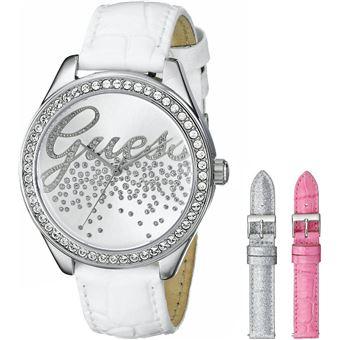 75f9ae55bc9b Montre Femme Guess W0201L2 Coffret 3 bracelets blanc argenté rose - Montre  à quartz - Achat   prix   fnac