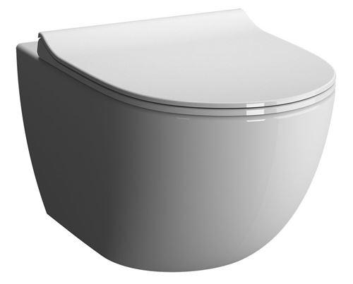 Cuvette de WC suspendue SENTO compact sans bride - Couleur : BLANC