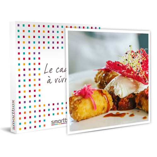 SMARTBOX - Cours de cuisine de 3h30 d'un menu de chef 3 plats à domicile pour 4 avec dégustation - Coffret Cadeau
