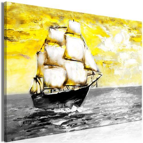Tableau - spring cruise (1 part) wide yellow - artgeist - 120x80