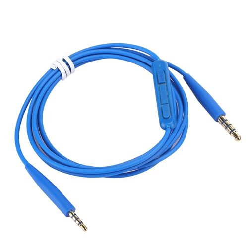 Câble audio 3.5mm à 2.5mm avec Microphone pour OE2iQC25QC35 SoundTrue Casque Bleu