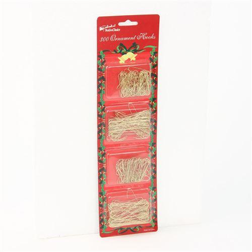300 Crochets pour décorations de Noël - Or