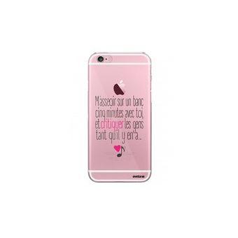 Coque Iphone 6 Iphone 6s Rigide Transparente M aeoir Sur Un Banc Evetane