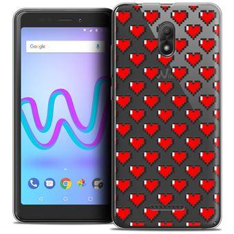 Coque Crystal Gel Wiko Jerry 3 545 Extra Fine Love Pixel Art