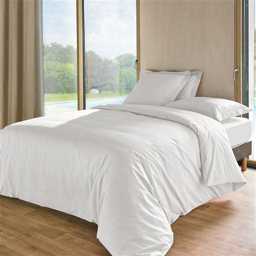 Taie d'oreiller percale Royal ESSIX HOME - Blanc - 64 x 64 cm