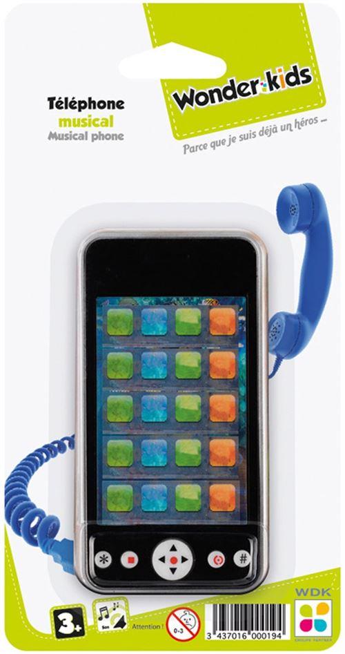 Wdk Partner - 1202P - Telephone Musical - Assortiment Aleatoire