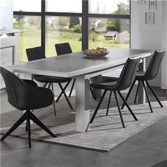 65 Moderne H 48 Et Extensible Table L Cm X P Couleur Childeric 280 Chêne Blanc Gris u35lJFcKT1