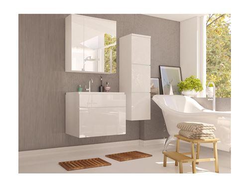 Ensemble SOLENE - meubles de salle de bain - Laqué blanc