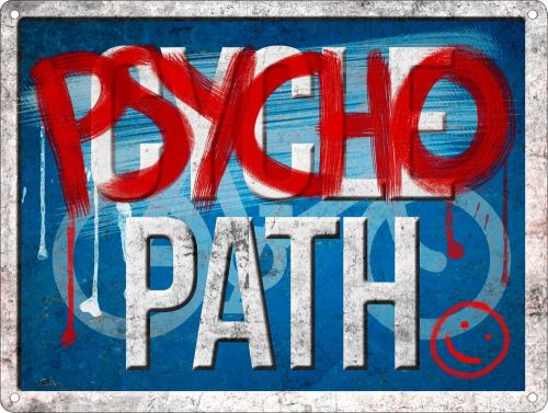 Plaque murale en métal Pyscho Path Not Cycle Path 40.7 x 30.5cm