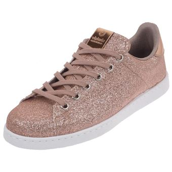 Deportivo Basses Chaussures Cuir Rose Ou Victoria Paillette Simili 7gyY6fb