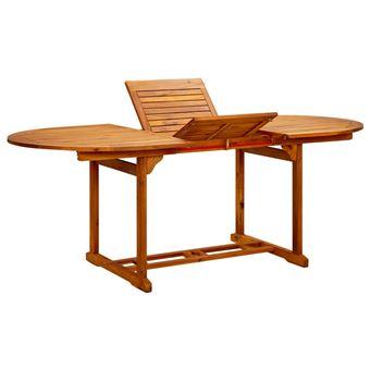 vidaXL Table de salle à manger d\'extérieur extensible en bois d\'acacia