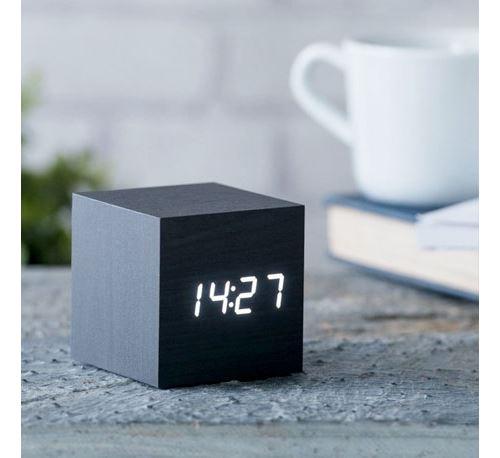 Réveil Gingko cube Click Clock Noir