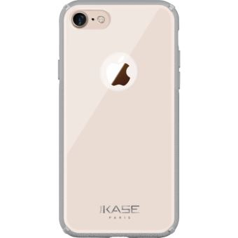 Coque en verre pour Apple iPhone 7 8 Rose Nude The Kase Paris