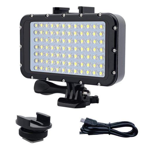Eclairage LED Guirlande/Décoration LED Lampe vidéo étanche à LED haute puissance à intensité variable de 84 LED pour éclairage sous-marin étanche à l eau de 50m (50m) de long pour Gopro Canon Nikon
