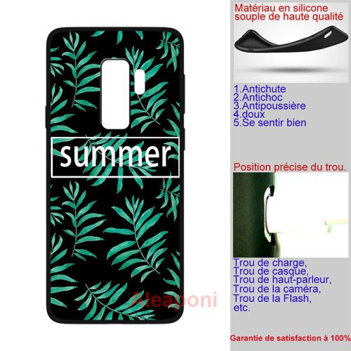 coque samsung s9 silicone summer