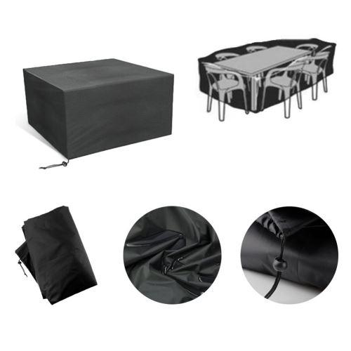 Housse de Protection Jardin | Tissu de 600D Oxford | 110*110*65cm Noir