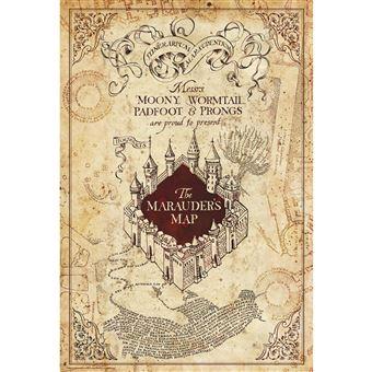 harry potter carte du maraudeur ABYstyle   HARRY POTTER   Poster   Carte du Maraudeur   (91.5x61